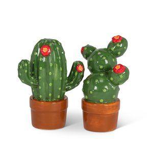 Cacti Pair of Salt & Pepper Ceramic Shakers